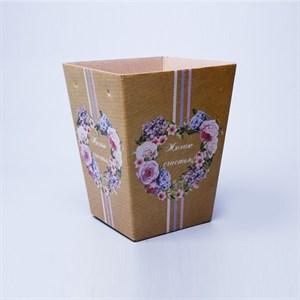 Плайм пакет для цветов Желаю счастья 220*175/125 Сердце