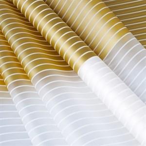 Пленка в рулоне 600 Полоса белая/золотая