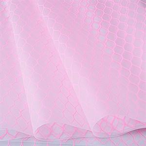 Пленка матовая 70*10 м Соты розовый