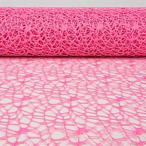 Сетка ажурная 50см*5ярд розовый