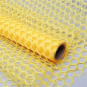 Сетка Крошет 50см*5 ярд крупная ячейка желтый