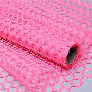 Сетка Крошет 50см*5 ярд крупная ячейка розовый