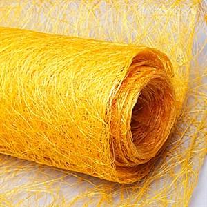 Сизалевое полотно 48см*4,5м желтый