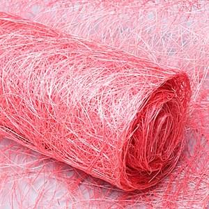 Сизалевое полотно 48см*4,5м ярко розовый