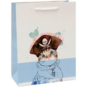 Сумочка матовая Кот пират 18*23*10см