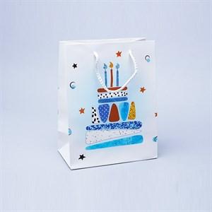Сумочка с блестками Праздничный торт 18*23*10см