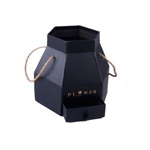 Коробка Шестигранник 20,6*18*18см с выдвижным ящичком