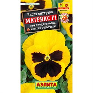 Виола Матрикс F1 желтая с бабочкой