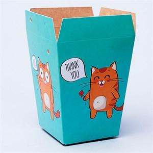 Плайм пакет для цветов 150*120/90 Котята на мятном