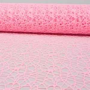 Сетка ажурная 50см*5ярд светло-розовый
