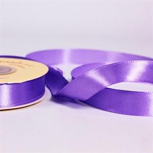 Лента атлас 15мм х 25 м К фиолетовая
