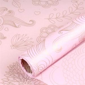 Бумага тишью с узором 58*10м персиковый