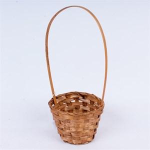 Корзина плетеная бамбук 13*9,5см коричневый