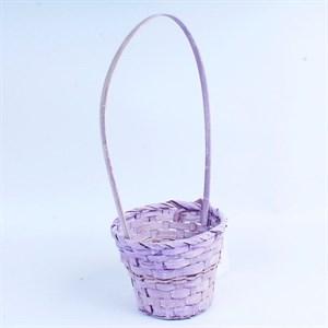 Корзина плетеная бамбук 14,5*11,5см фиолетовая