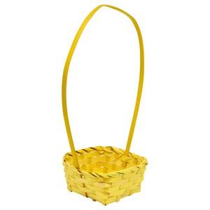 Корзина плетеная бамбук 19*5см желтый