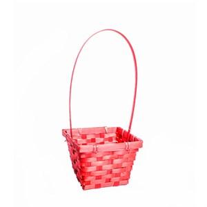 Корзина плетеная бамбук 19*5см красный