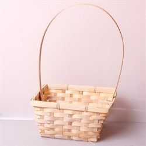 Корзина плетеная бамбук 19*5см натуральный