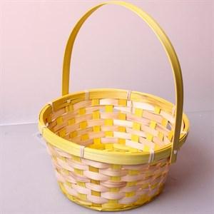 Корзина плетеная бамбук 20*15 10см желтая