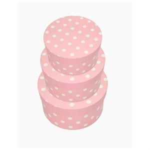 Набор коробок Горох 21*21*11,5см 3шт розовый
