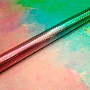 Пленка 58*5м Северное сияние розовый/зеленый