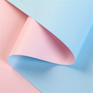 Пленка матовая 60*10м розовый/голубой