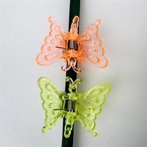 Клипсы Листок для орхидей Бабочка 6шт