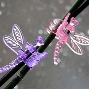 Клипсы Листок для орхидей Стрекоза 6шт