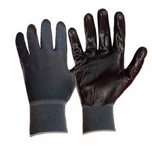 Перчатки нейлоновые с нитрил.покрыт. черные