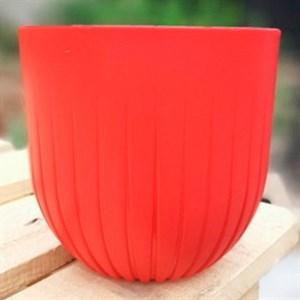 Горшок Альфа 4л красный с вкладышем