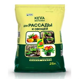 БиоГрунт КЕВА Биотерра для рассады и овощей 25л