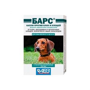 Капли БАРС от блох для собак 2,8мл