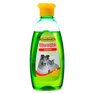 Шампунь БИОФЛОР пивной для кошек и собак 245мл