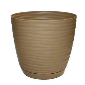 Кашпо САХАРА петит 11 10,7*10*0,65 кофе латте с подставкой