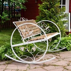 Кресло качалка состаренное дерево 881-43R - фото 76919