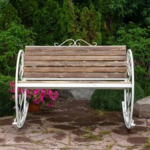 Кресло качалка состаренное дерево 881-43R - фото 76921