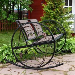 Кресло качалка кованое 881-46R - фото 76930