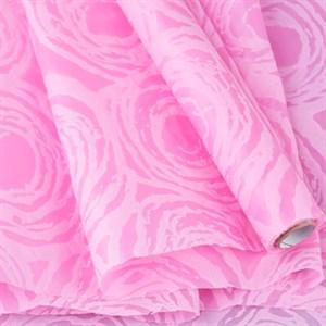 Фетр Ламинированный 50см х 5м 3Д Круговорот розовый