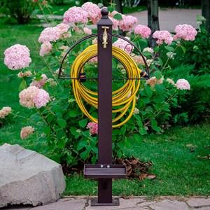 Колонка садовая с подставкой под ногу металл 54-634