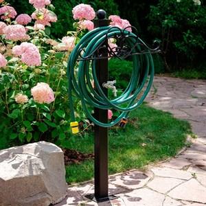 Колонка садовая металл сердце 54-637