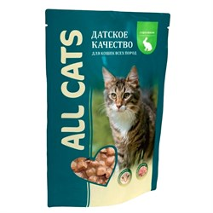 Корм Олл Кэт для кошек 85г кролик в соусе паучи