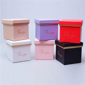 Коробка Куб 8*8*8см микс