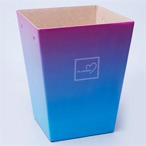 Плайм пакет для цветов 220*175/125 Градиент сиреневый/голубой