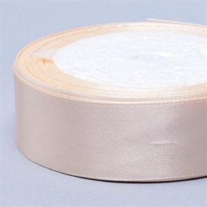Лента атлас 25мм х 25 ярд кремовая