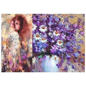 Бумага дизайнерская 50*70 см 10 л. Летние цветы