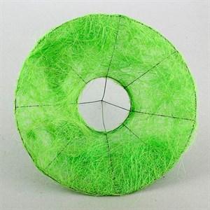 Каркас для букета 30 см сизаль гладкий зеленое яблоко