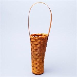 Корзина плетеная бамбук 10*20*35см желтый
