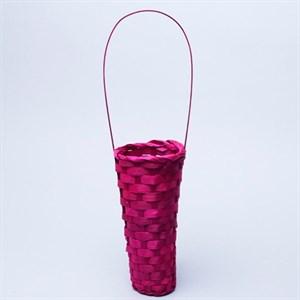 Корзина плетеная бамбук 10*20*35см розовый
