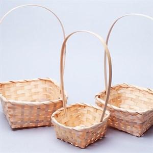 Набор корзин плет бамбук 19*19*9/32см 3 шт натур.