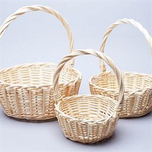 Набор корзин плет ива 24*11*28см 3 шт Белый