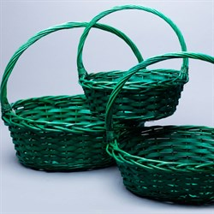 Набор корзин плет ива 35*43*40см 3 шт Зеленый